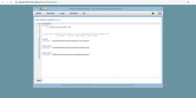 Webrunner Interface - Save Software Release