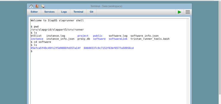 SlapOS Webrunner   Terminal - Software Releases