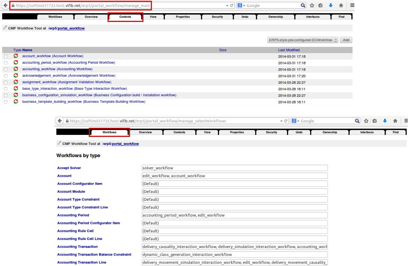 Portal Workflow Folder