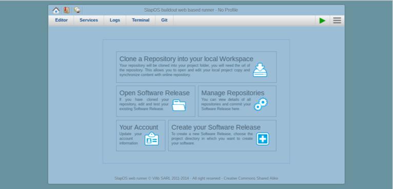 Webrunner Interface
