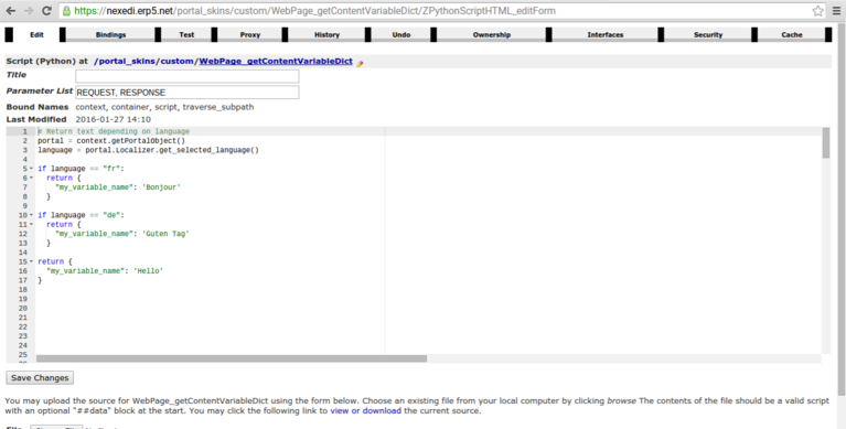 ERP5 FAQ | Content Variables - Screenshot Providing Object
