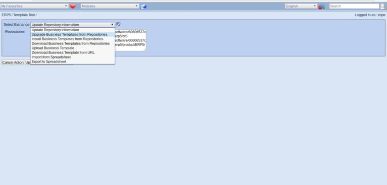 ERP5 Manage Business Templates   Update from Repositories