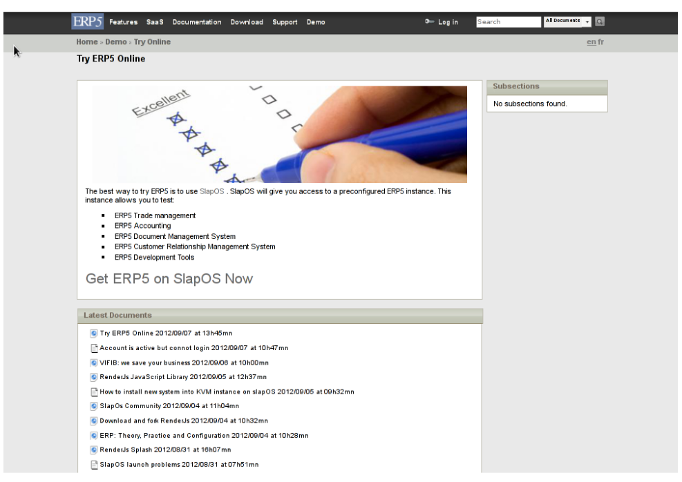 Get ERP5 Link
