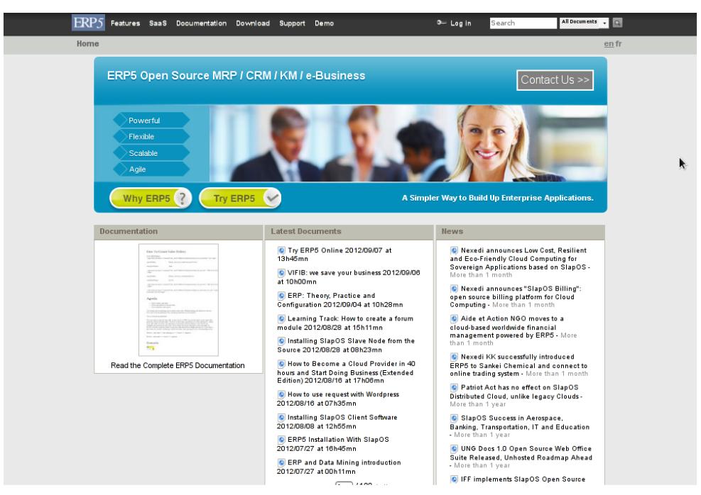 ERP5 Web site