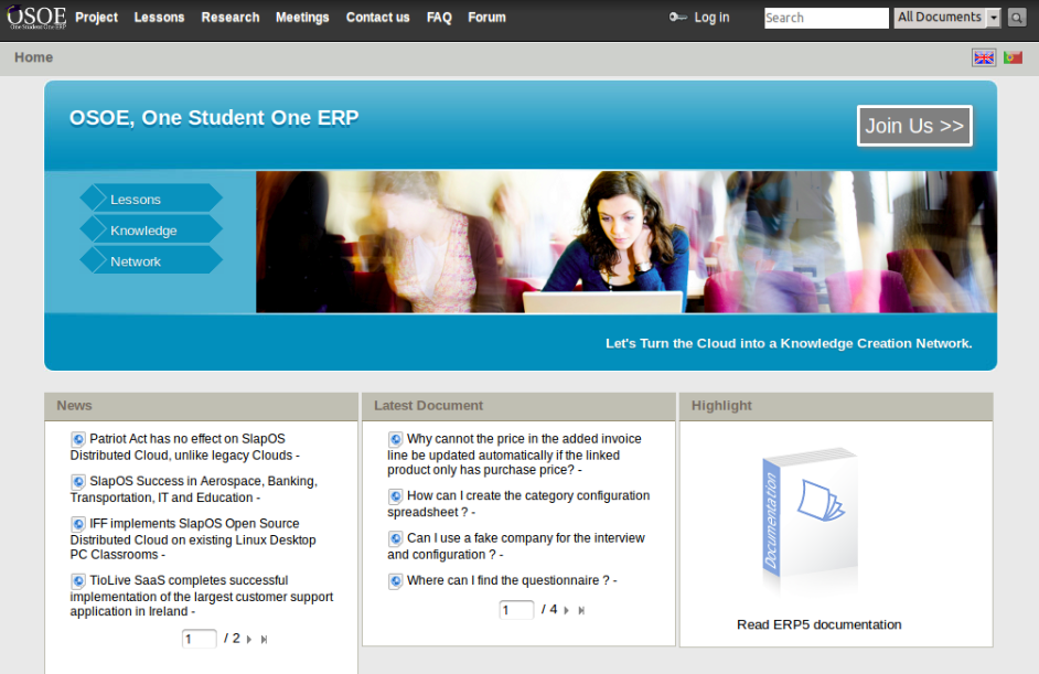 One student one ERP programme
