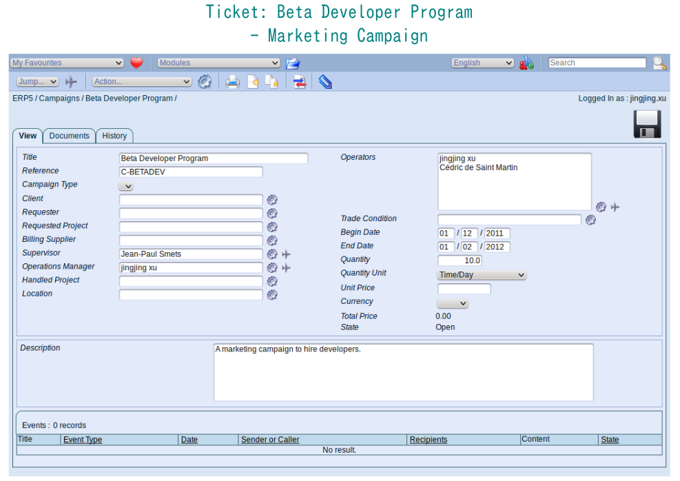Campaign example: Beta Developer Program
